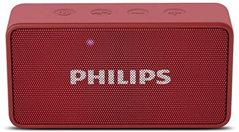 Philips BT64R Portable Bluetooth Speakers (Red)-CE-Philips-Helmetdon