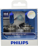 Philips H4 12342 Diamond Vision Headlight Bulb (12V, 60/55W, 2 Bulbs)-Bulbs-Philips-Helmetdon
