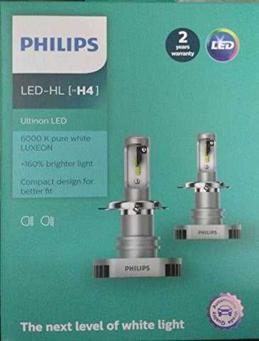 Philips H4 Ultinon LED 6000K P-43t (Set of 2)-Bulbs-Philips-Helmetdon