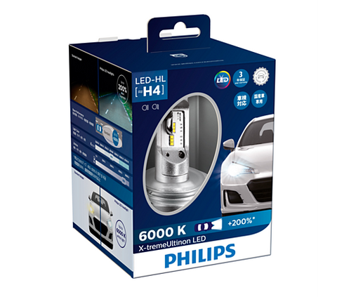 Philips H4 X-treme Ultinon 12953BWX2 LED Car Lamp-Bulbs-Philips-Helmetdon