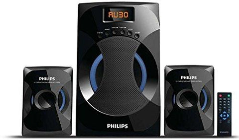 Philips MMS-4545B 2.1 Channel Speakers System (Black)-CE-Philips-Helmetdon