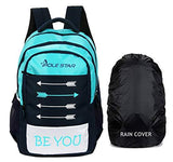 POLE STAR BEYOU with RAIN Cover Casual Backpack/School bagpack/Travel Bag (Blue)-Luggage-POLE STAR-Helmetdon