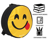 POLE STAR Smiley 20Ltr Black Yellow Casual Backpack-Luggage-POLE STAR-Helmetdon