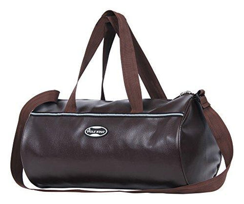 POLE STAR Unisex Leatherette 26 L Tan Brown Duffel Gym Bag-Luggage-POLE STAR-Helmetdon