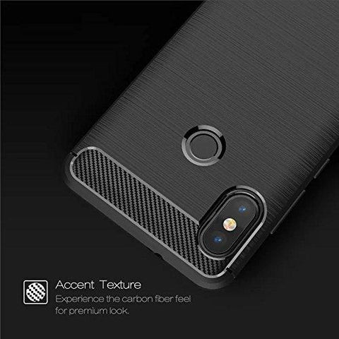 premium selection 2d835 a420b POPIO™ Xiaomi Redmi Note 5 Pro Back Cover Case Slim Rugged Shock Proof  Bumper Armor Back Cover Case (Carbon Black)