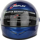 Replay Leo Plain Full Face Helmet with Smoke Visor - Black, Red and Blue Colours-Helmets-Replay-M-Blue-Helmetdon