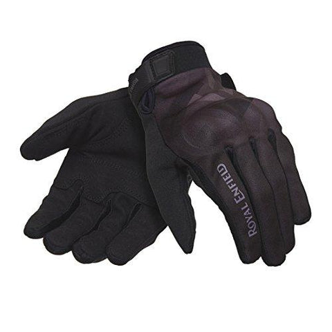Royal Enfield NATO GLAW17003 Gloves (Black, S)-Royal Enfield-Helmetdon