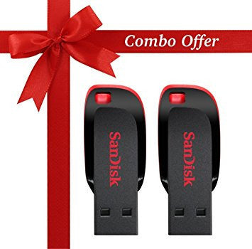 SanDisk Cruzer 8GB x 2 Cruzer Blade USB 2.0 Flash Drive Jump Drive Pen Drive SDCZ50 - Two Pack-Electronics-SanDisk-Helmetdon