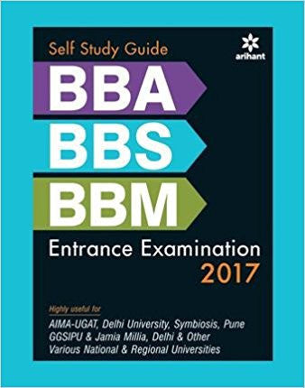 Self Study Guide BBA/BBS/BBM Entrance Examination 2017-Books-TBHPD-Helmetdon