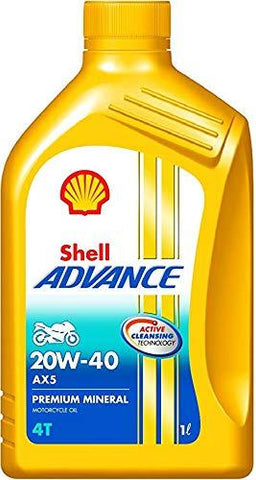 SHELL Advance AX 5 20W40 4 Stroke Engine Oil 900 ML-Automotive Parts and Accessories-Shell-Helmetdon