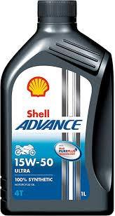 SHELL Advance Ultra Fully Synthetic 15W50 1 LTR-Automotive Parts and Accessories-Shell-Helmetdon