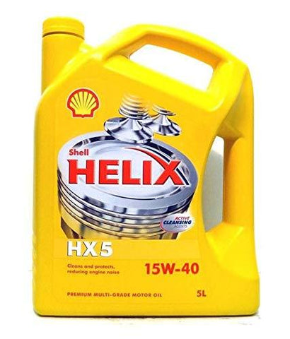 SHELL Helix HX 5 15W40 5LTR for All Diesel Engines-Automotive Parts and Accessories-Shell-Helmetdon