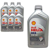 SHELL Helix HX8 Synth 5W30 SN 4.5LTR Fully Synthetic Oil for Petrol and Diesel Engines-Automotive Parts and Accessories-Shell-Helmetdon