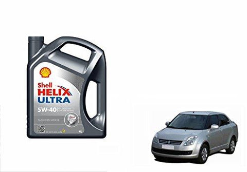 Shell Helix Ultra 5W-40 Synthetic Car Petrol Engine Oil 4 Litre-Maruti Swift Dzire Old-Automotive Parts and Accessories-Shell-Helmetdon
