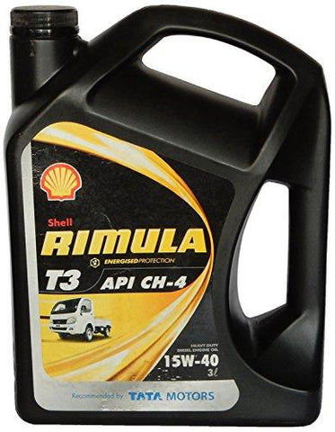Shell Rimula T3 15W-40 Diesel Engine Oil for Mini Trucks (3 Ltrs)-Automotive Parts and Accessories-Shell-Helmetdon