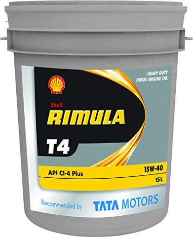 Shell Rimula T4 15W-40 API CI4 Mineral Engine Oil (15 L)-Automotive Parts and Accessories-Shell-Helmetdon