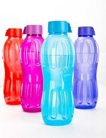Signoraware Aqua Water Bottle Set, 1 Litre,Set of 4, Multicolour-Home & Kitchen-Signoraware-Helmetdon