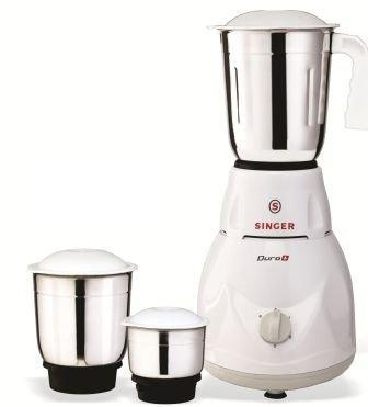 Singer Duro Plus SMG-503 DGT 500-Watt Mixer Grinder with 3 Jars (White)-Kitchen-Singer-Helmetdon