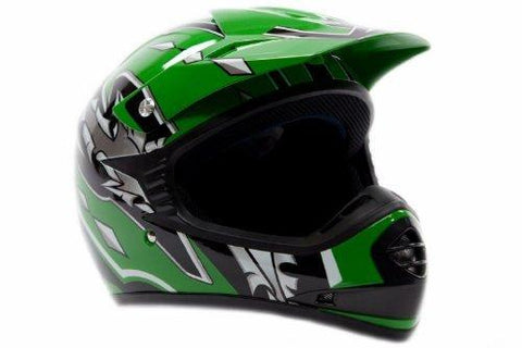 Small : Youth Offroad Helmet DOT Motocross ATV Dirt Bike MX Motorcycle Green , Small-Automotive Parts and Accessories-Typhoon Helmets-Helmetdon