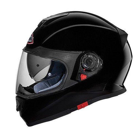 SMK GL200 Twister Pinlock Fitted Full Face Helmet with Clear Visor (Gloss Black, M)-Helmets-SMK-L-Helmetdon
