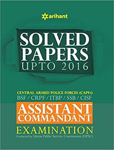 Solved Papers CPF Assistant Commandant Examination-Books-TBHPD-Helmetdon