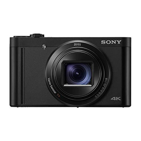 Sony Cybershot DSC-WX800 18.2MP Compact High-Zoom Camera with 4K Recording (Black)-CE-Sony-Helmetdon