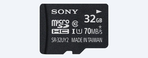 Sony SR-UY2A Series microSD Class 10 70Mbps Memory Card-Electronics-Sony-32GB-70mbps-Helmetdon