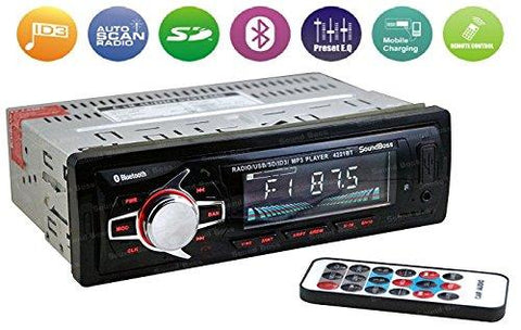 Sound Boss SB-46 Single-Din Car Stereo with Bluetooth-Sound Boss-Helmetdon