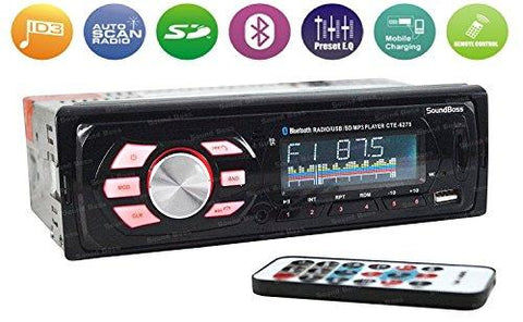 Sound Boss SB-49 Car Stereo with Bluetooth-Sound Boss-Helmetdon