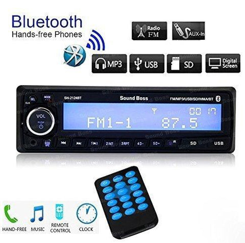 Sound Boss SN-2124BT Car Stereo with Bluetooth-Sound Boss-Helmetdon