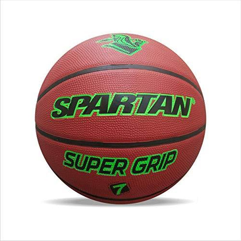 Spartan BB 5121-7 Basketball, Size 7 (Brown/Green)-Sports-SPARTAN-Helmetdon