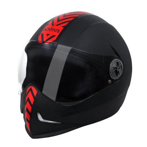 Steelbird 173609 Adonis Dashing Full Face Helmet (Black and Red, L)-Automotive Parts and Accessories-Steelbird-Helmetdon