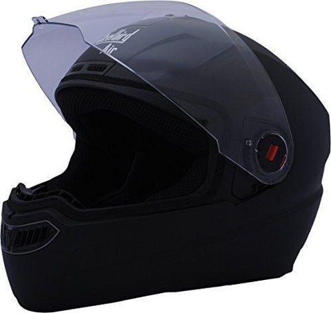 Steelbird Air SBA-1 Glossy Full Face Helmet (Black, L)-Automotive Parts and Accessories-Steelbird-Helmetdon
