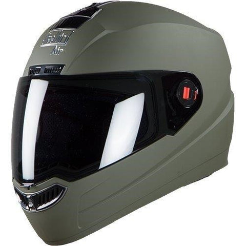 Steelbird Air SBA-1 Matte Full Face Helmet (Battle Green, M)-Steelbird-Helmetdon