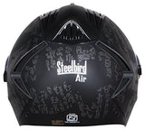 Steelbird Air SBA-2 Strength Night Vision Full Face Graphics Helmet - Single Night Vision Dual Action Visor for Day and Night (Large 600 MM, Matt Black/Grey)-Automotive Parts and Accessories-Steelbird-Helmetdon