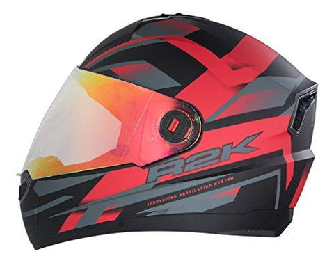 Steelbird R2k Night Vision Full Face Helmet (Matt Black and Red, L)-Automotive Parts and Accessories-Steelbird-Helmetdon