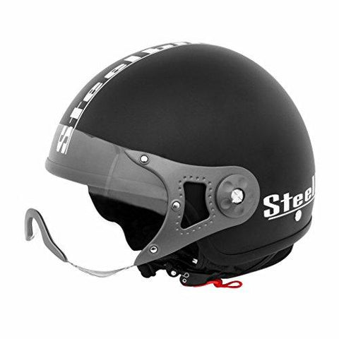 Steelbird SB-27 Style Mat Black with plain visor,600 mm-Automotive Parts and Accessories-Steelbird-Helmetdon