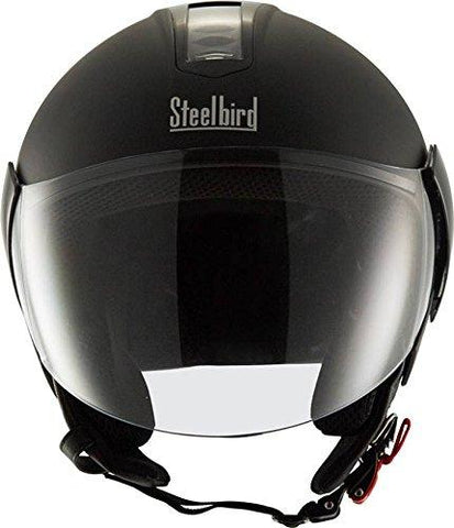 Steelbird SB-33 EVE Natural Dashing Motorbike Helmet (Black)-Automotive Parts and Accessories-Steelbird-Helmetdon