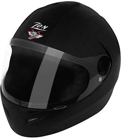 Steelbird SB-37 7Wings Full Face Helmet Natural Black with Plain Visor Large 600 MM-Automotive Parts and Accessories-Steelbird-Helmetdon