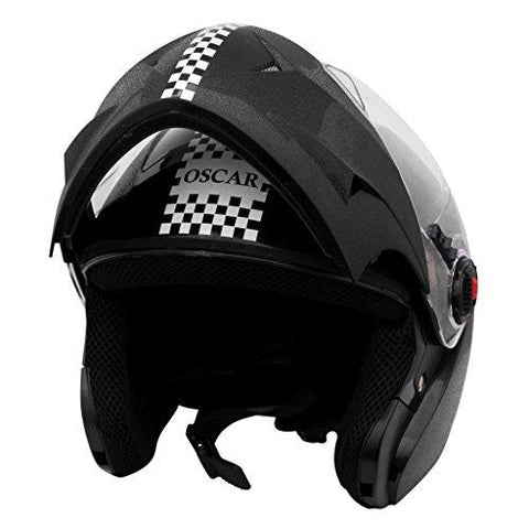 Steelbird SB-41 Oscar Dashing Black with Plain Visor,600 mm-Automotive Parts and Accessories-Steelbird-Helmetdon