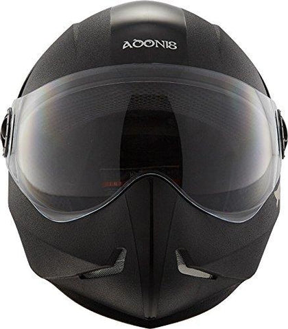 Steelbird SB-50 Adonis Classic Black with Plain Visor,600mm-Automotive Parts and Accessories-Steelbird-Helmetdon