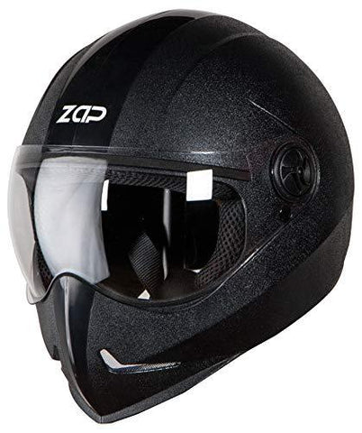 Steelbird SB-50 Adonis Zap Classic Full Face Helmet (Large 600 MM, Black with Plain Visor)-Steelbird-Helmetdon