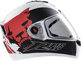 Steelbird SBA-1 Beast Glossy White with Red with Plain Visor,580mm-Automotive Parts and Accessories-Steelbird-Helmetdon
