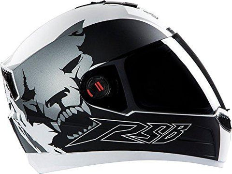 Steelbird SBA-1 Beast Matt White with Grey with Smoke Visor,580mm-Automotive Parts and Accessories-Steelbird-Helmetdon