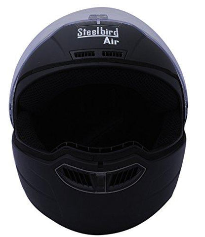 Steelbird SBA-1 Classic Black with Plain Visor,580 mm-Automotive Parts and Accessories-Steelbird-Helmetdon