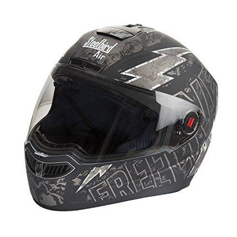 Steelbird SBA-1 Free Live Matt Black with Grey with smoke visor,600mm-Automotive Parts and Accessories-Steelbird-Helmetdon