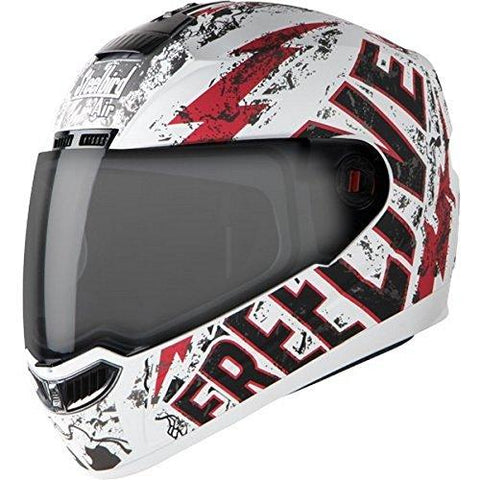 Steelbird SBA-1 FreeLive Glossy White with Red with Smoke Visor,600mm-Automotive Parts and Accessories-Steelbird-Helmetdon