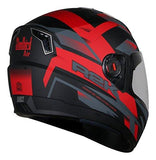 Steelbird SBA-1 R2K Full Face Helmet (Matt Black and Red, L)-Automotive Parts and Accessories-Steelbird-Helmetdon