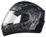 Steelbird SBA-1 R2K LIVE Full Face Helmet in Matt Finish with Plain Visor (Medium 580 MM, Matt Black/Grey)-Automotive Parts and Accessories-Steelbird-Helmetdon