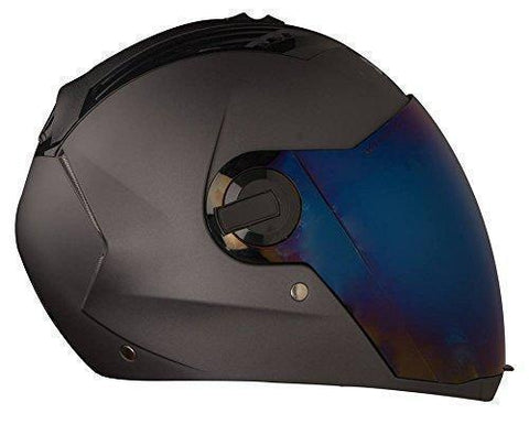 Steelbird SBA-2 Dashing Black with Rainbow Visor,600 mm-Automotive Parts and Accessories-Steelbird-Helmetdon